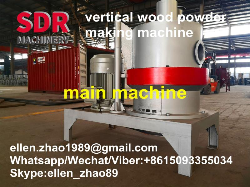 Feedback from customer in India about the performance of SHINDERY vertical structure wood powder grinder